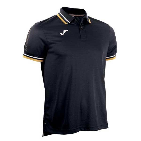 Joma Campus Short Sleeve Polo Shirt 10-12 Years Black