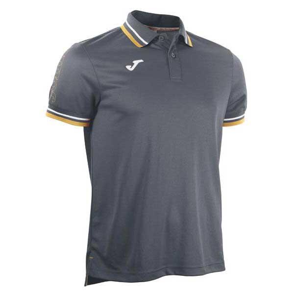Joma Campus Short Sleeve Polo Shirt 6-8 Years Grey