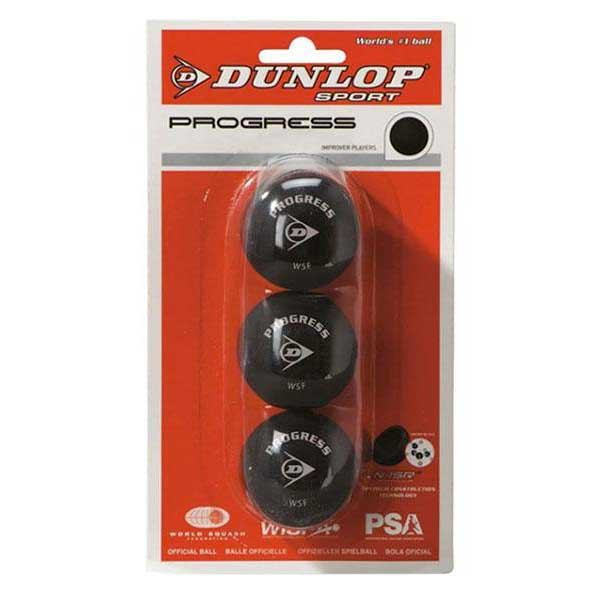 Dunlop Progress 3 Balls Black
