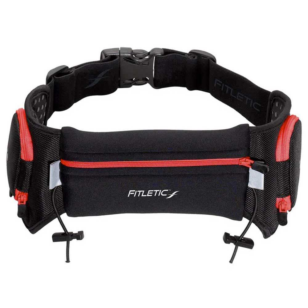 Fitletic Fitletic Fitletic Hydration Belt 20oz Zip black / red , Porte Bidons Fitletic , running 756703
