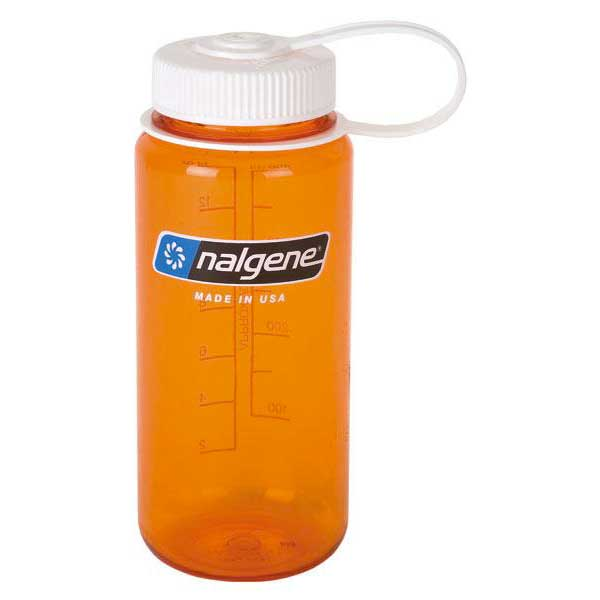 Nalgene Wide Mouth Bottle 500ml One Size Orange / Loop-Top White