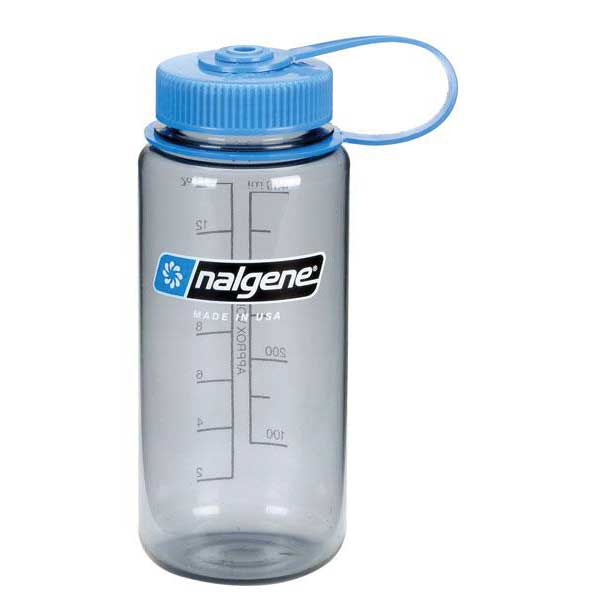 Nalgene Wide Mouth Bottle 500ml One Size Gray / Loop-Top Blue