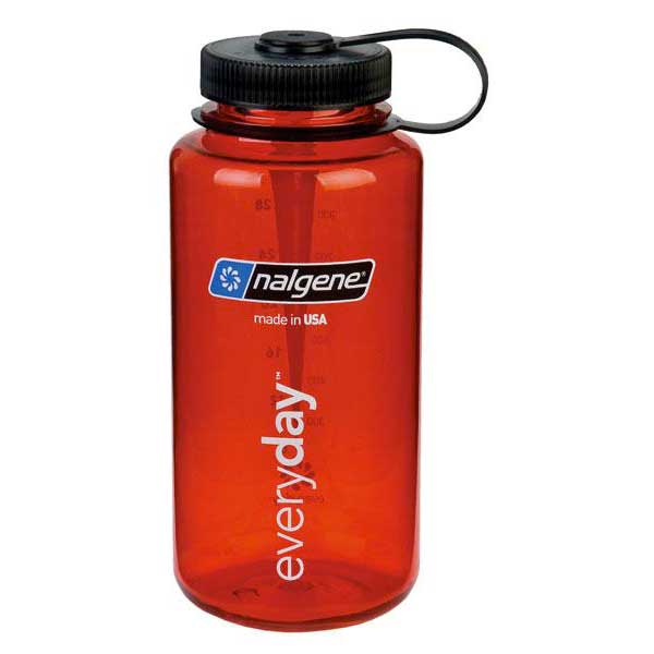 Nalgene Wide Mouth Bottle 1l One Size Red / Loop-Top Black