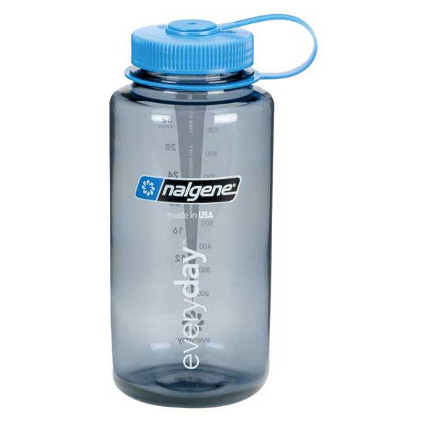 Nalgene Wide Mouth Bottle 1l One Size Gray / Loop-Top Blue