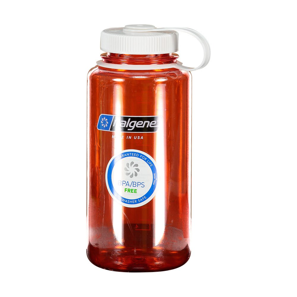 Nalgene Wide Mouth Bottle 1l One Size Orange / Loop-Top White
