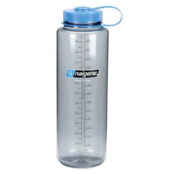 Nalgene Wide Mouth Bottle 1.5l One Size Gray / Loop-Top Blue