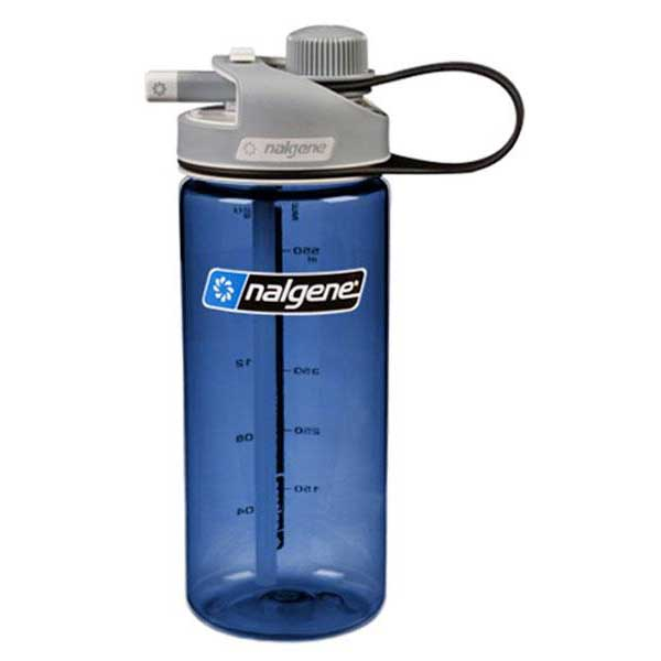 Nalgene Multi Drink Bottle 700ml One Size Blue / Loop-Top Gray