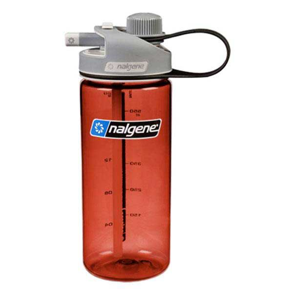 Nalgene Multi Drink Bottle 700ml One Size Red / Loop-Top Gray