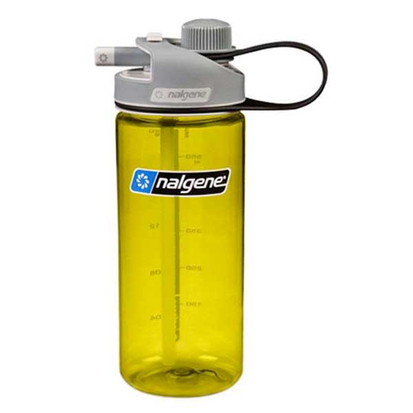 Nalgene Multi Drink Bottle 700ml One Size Green / Loop-Top Gray