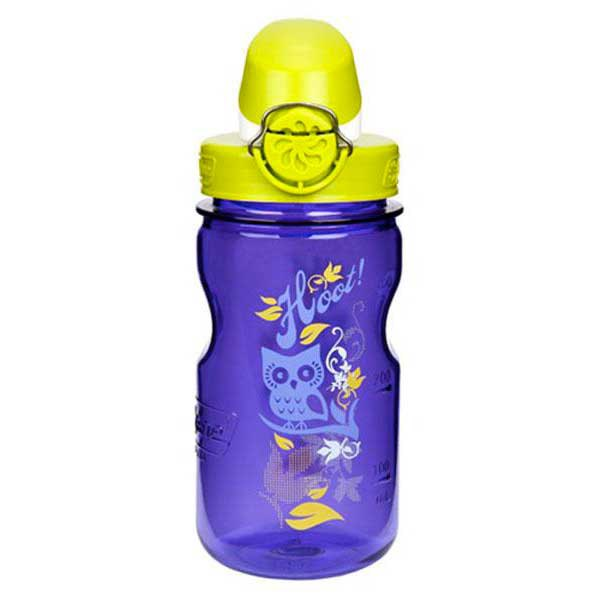 Nalgene Otf Kids Bottle 350ml One Size Violet with Owl motif / Loop-Top Lime and White