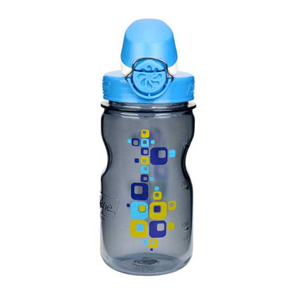 Nalgene Otf Kids Bottle 350ml One Size Gray with Squares motif / Loop-Top Blue and White