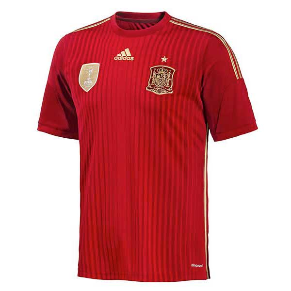Adidas Spain Home 2014 M Victory Red / Light Football Gold / Toro
