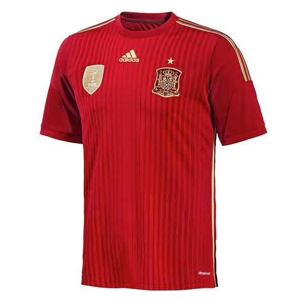 Adidas Spain Away 2014 Junior 7-8 Years Victory Red / Light Football Gold / Toro
