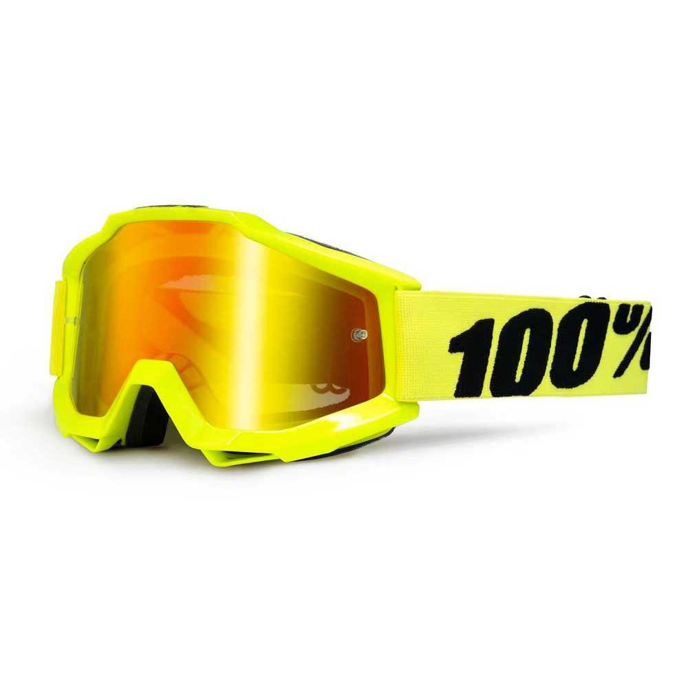100percent Goggle Accuri Fluo Yellow Red Mirror