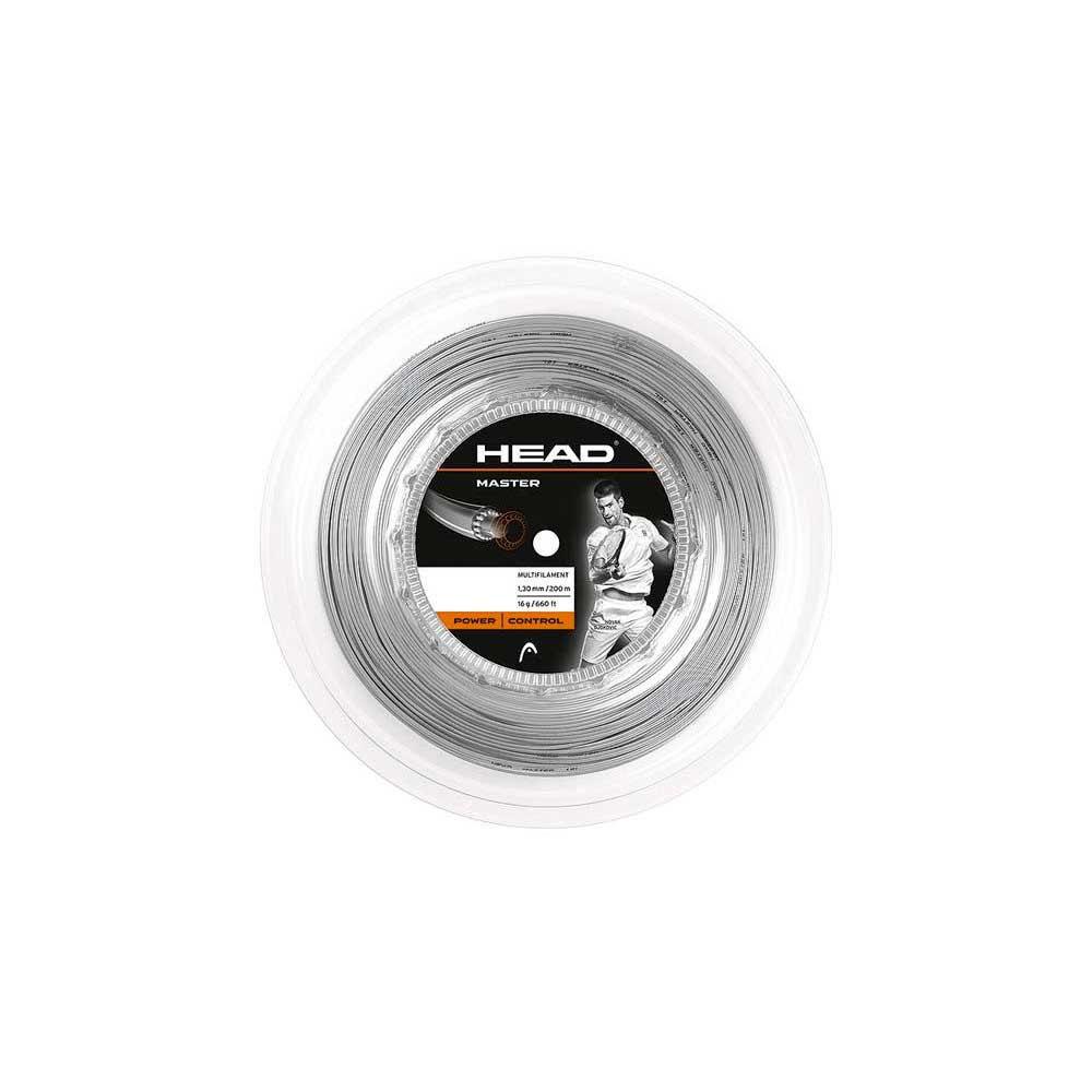 Head Racket Cordage Bobine Tennis Master 200 M 1.38 mm Silver