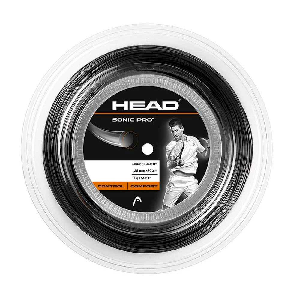 Head Racket Sonic Pro 200 M 1.30 mm Black