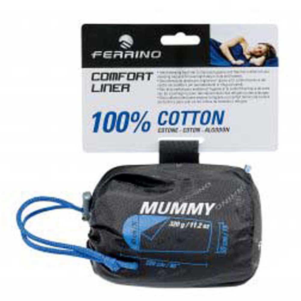 Ferrino Comfort Mummy 220 x 80 cm Blue