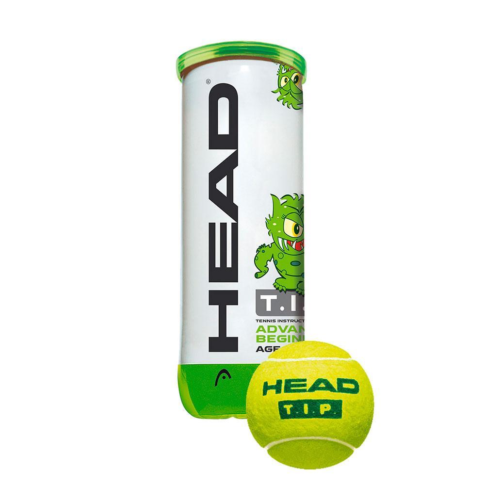 Head Racket Tip 3 Balls Green