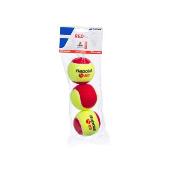 Babolat Red Felt 3 Balls Yellow / Red