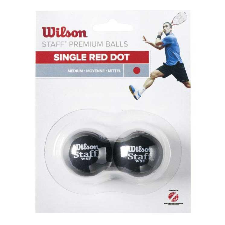 Wilson Staff Medium Single Red Dot 2 Balls Black