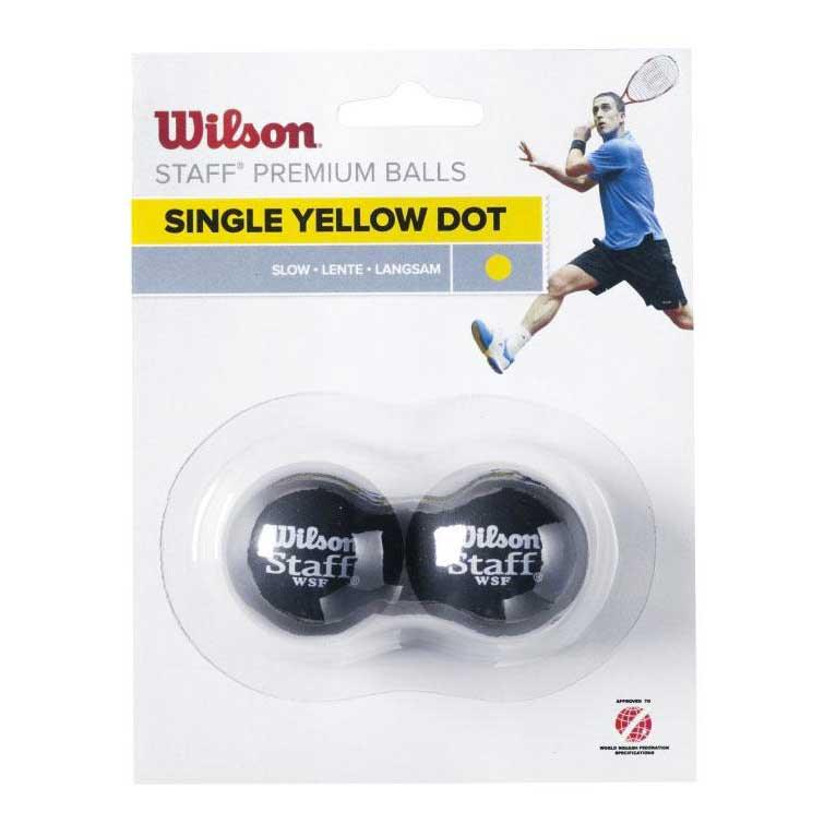 Wilson Staff Slow Single Yellow Dot 2 Balls Black