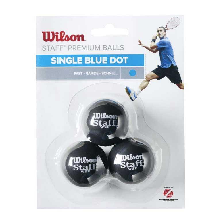 Wilson Staff Fast Single Blue Dot 3 Balls Black