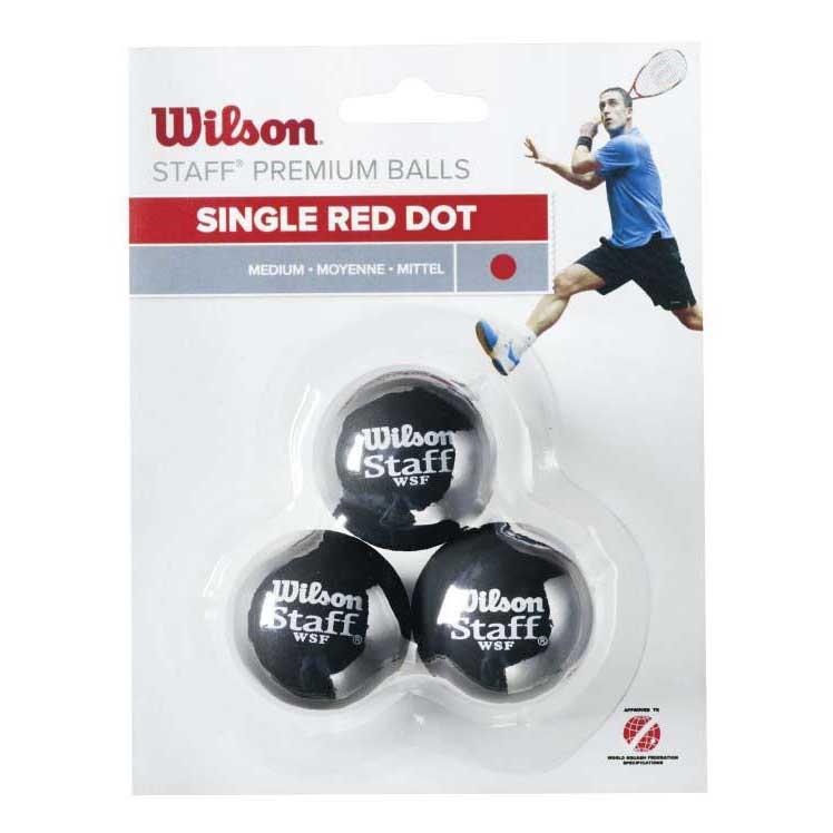 Wilson Staff Medium Single Red Dot 3 Balls Black