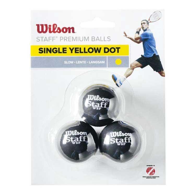 Wilson Staff Slow Single Yellow Dot 3 Balls Black