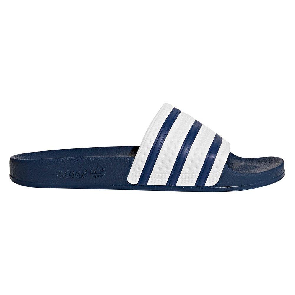 official photos 62dde 5de9a Adidas Adilette Mocassins Homme Bleu Adiblue White 43 eu 9 U