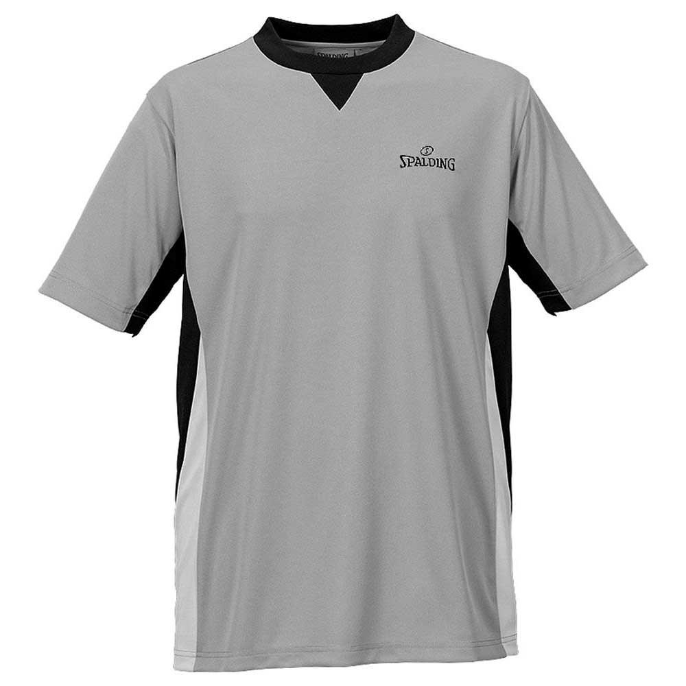 Spalding T-shirt Manche Courte Referee L Grey / Black / Silver Grey