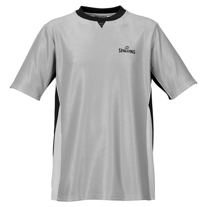Spalding T-shirt Manche Courte Referee Pro S Grey / Black / Silver Grey