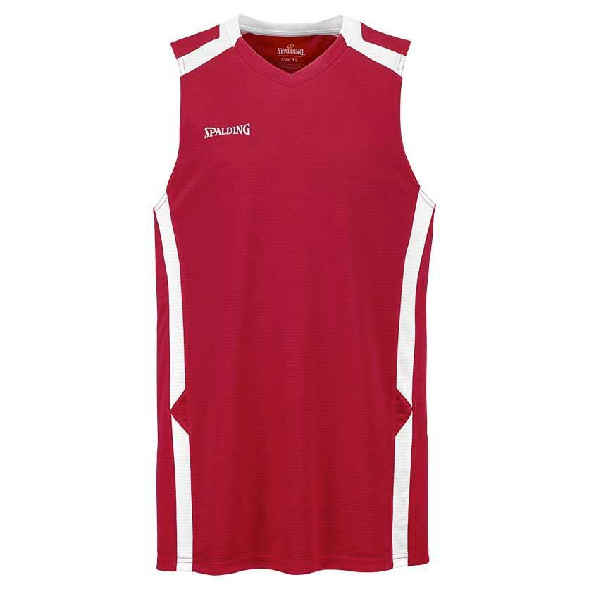 Spalding T-shirt Sans Manches Offense S Red / White