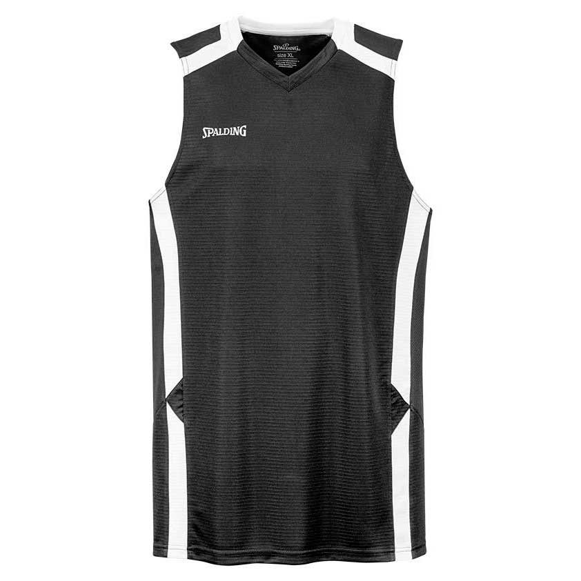 Spalding T-shirt Sans Manches Offense S Black / White