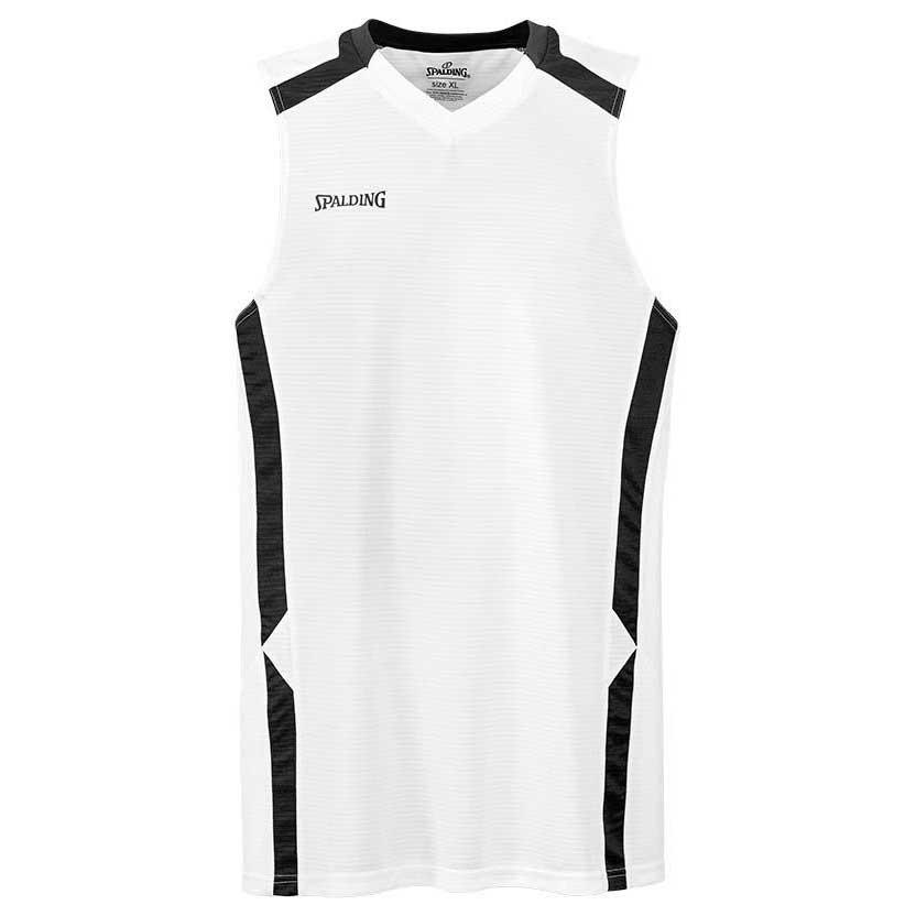 Spalding T-shirt Sans Manches Offense S White / Black