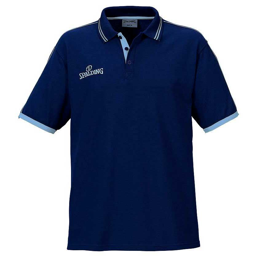 Spalding Polo Manche Courte Shirt S Navy / Sky Blue