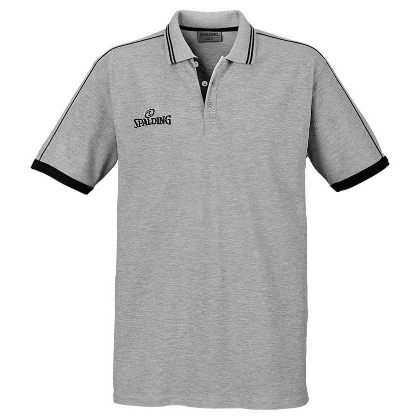 Spalding Polo Manche Courte Shirt S Grey / Black