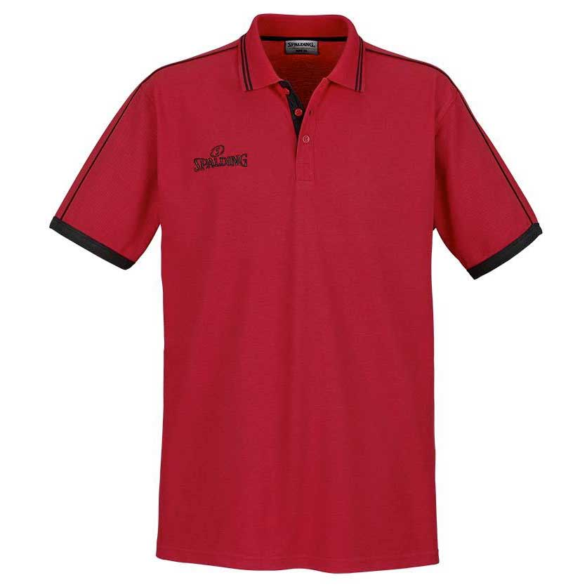 Spalding Polo Manche Courte Shirt S Red / Black