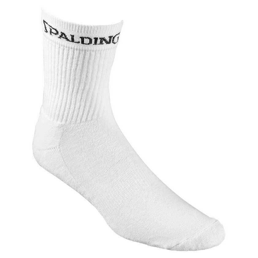 Spalding Mid Cut 3 Pairs EU 36-40 White