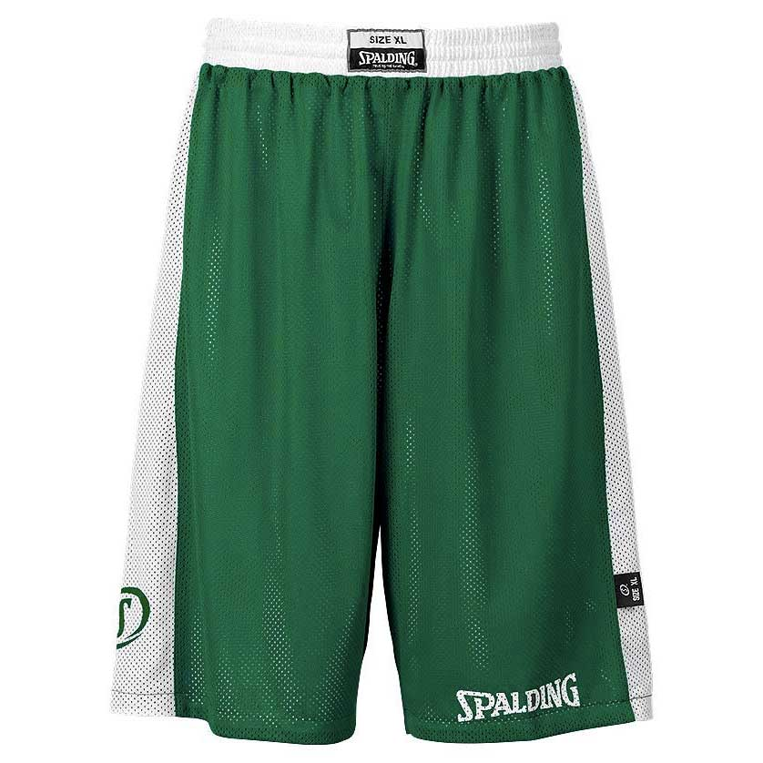 Spalding Essential Reversible Shorts XXS Green / White