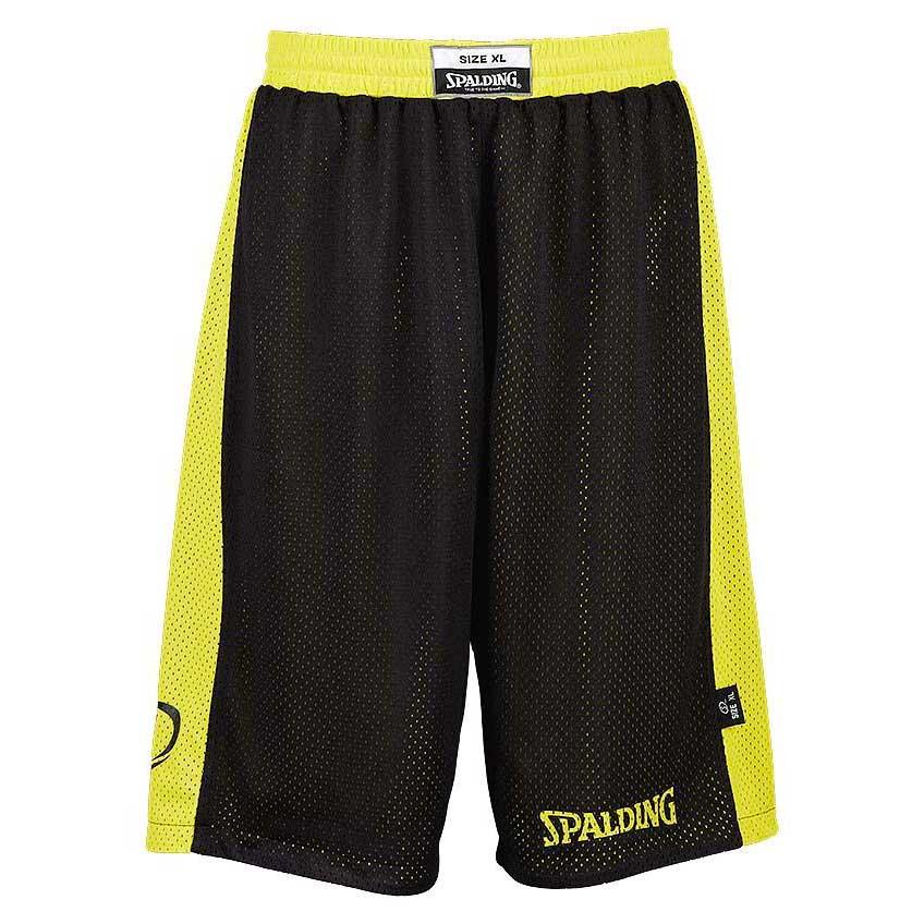 Spalding Essential Reversible Shorts XXS Black / Neon Yellow