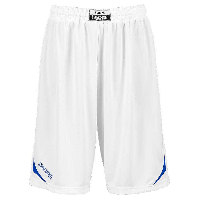 Spalding Attack Shorts XS White / Royal Blue