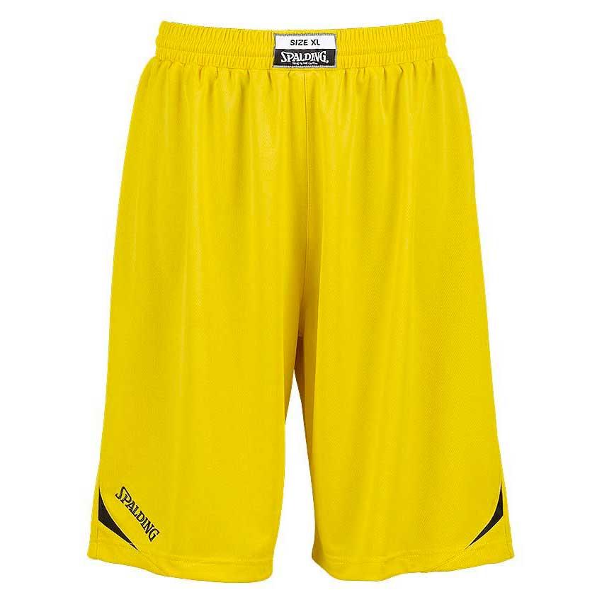 Spalding Attack Shorts XXXS Yellow / Black