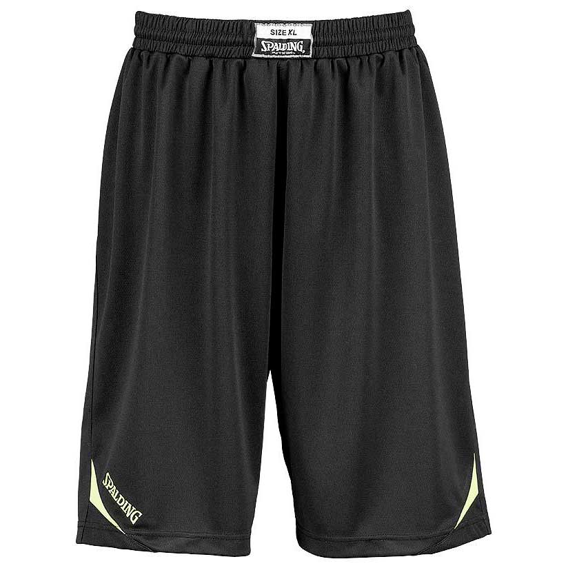 Spalding Attack Shorts XXXS Black / Neon Yellow