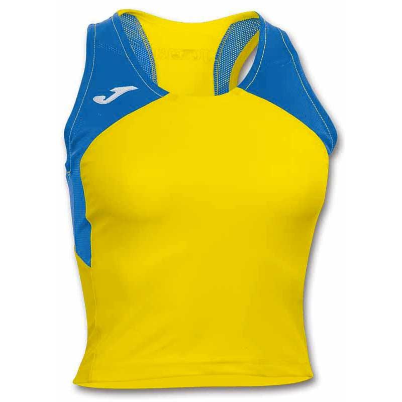 Joma T-shirt Sans Manches Record Ii L Yellow / Royal