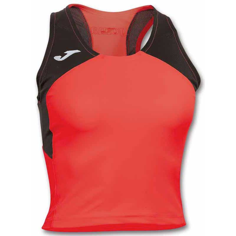 Joma T-shirt Sans Manches Record Ii M Coral / Black