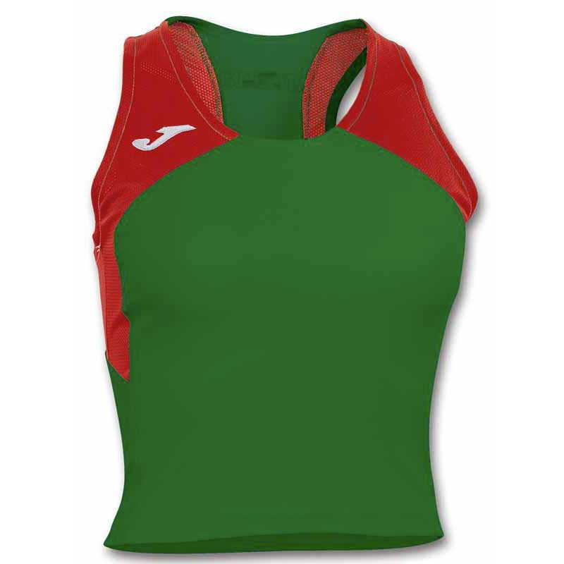 Joma T-shirt Sans Manches Record Ii XS Green / Red