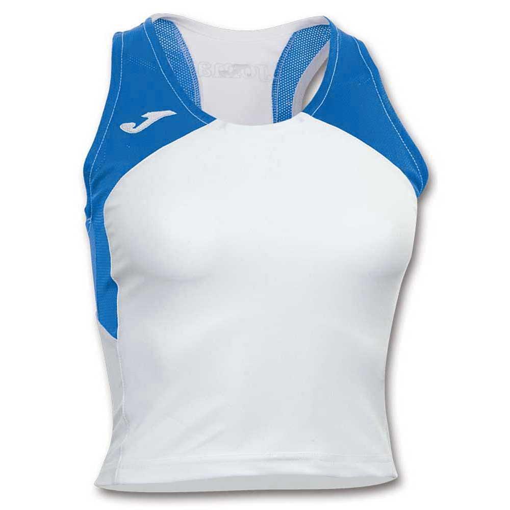 Joma T-shirt Sans Manches Record Ii S White / Royal