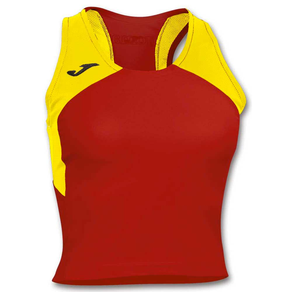 Joma T-shirt Sans Manches Record Ii XS Red / Yellow