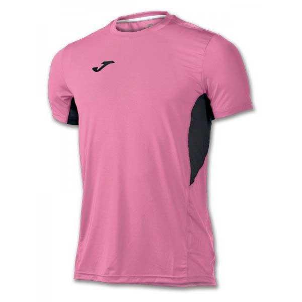 Joma T-shirt Manche Courte Record Ii XS Pink Fluor / Black
