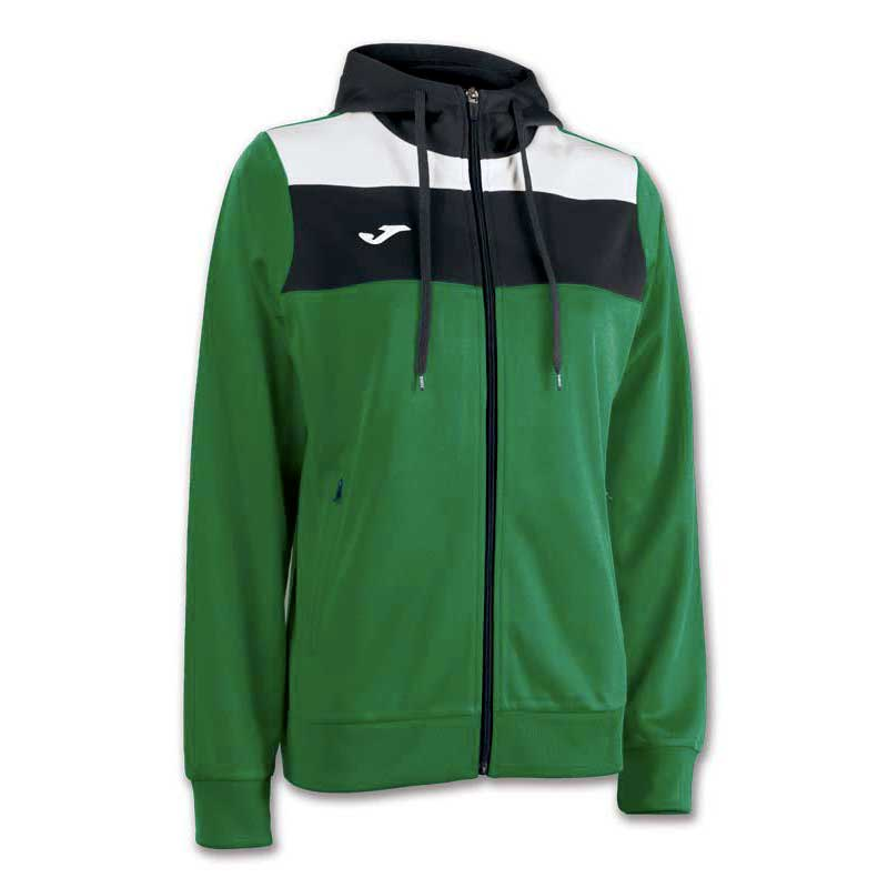 Joma Crew Hooded Jacket XXL Green Medium / White / Black